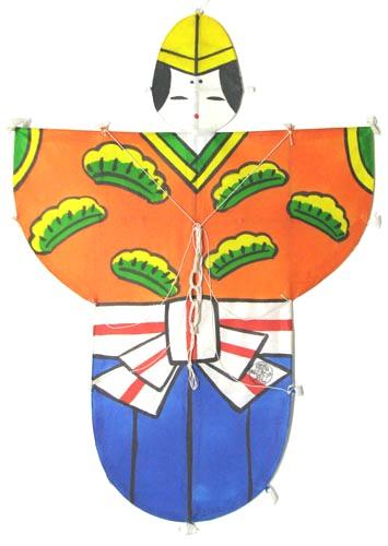 民芸品 北九州市 (戸畑)日本凧 和凧 孫次凧ひな祭り お雛様 男雛凧(特大)