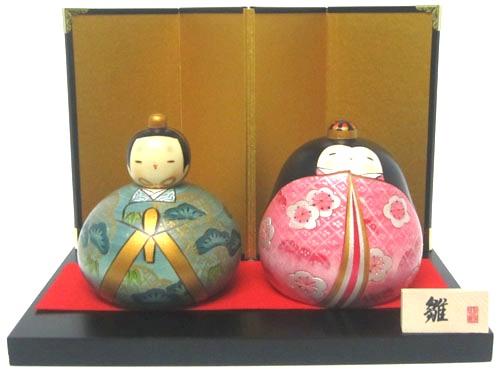 日本のお土産にも人気日本製 民芸品 工芸品卯三郎作 こけし 雛祭り雛人形 平安雛セット 【送料無料】