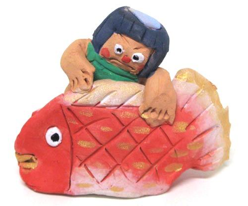 NEW 丁寧な手作り節句人形青島五月人形お子様の健やかなご成長を願います 人気ブレゼント! 和風インテリア 宮崎県五月人形 端午の節句人形青島五月人形のさり人形 金太郎と鯛