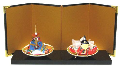 日本製 和風インテリア 雛人形ひな人形 お雛様 貝雛和紙人形 屏風付き蛤雛