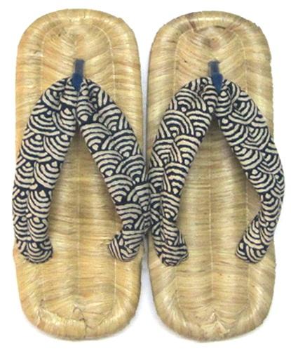着物に!浴衣に!普段着に!贈り物に!天然素材の上質の履き心地 日本製 大分県 伝統的特産品日田 竹皮草履 (ぞうり・ゾウリ)男女両用(L) W鼻緒 5種類