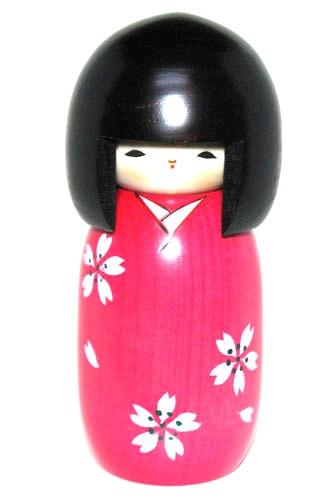 やすらぎの木の温もり 流行 海外向けお土産 こけし人形 日本のお土産にも人気日本製 桜 民芸品 こけし 工芸品卯三郎作 大注目