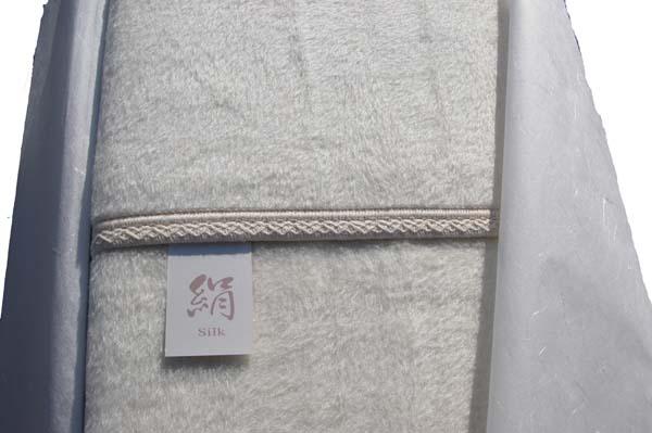 国産シルク毛布厚手『健康美人』(シングルサイズ)ギフトケース入り【送料無料】