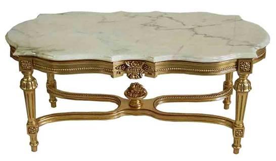 【開梱設置・送料無料】 イタリア製 ホワイト 大理石 センターテーブル (脚部分:ゴールド) ヨーロピアン
