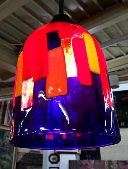 【送料無料!!】【即納可!!】新入荷しました♪イタリア製 ベネチアンガラス ランプシェード ハンドメイドブルー レッド 照明 ライティング ベネチア ベニス ガラスヴェネツィアングラス ムリーナ