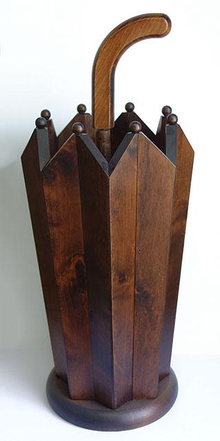 【送料無料】【即納可!!】再入荷しました♪イタリア製 木製 傘立て アンブレラタイプレインラック 木目 モダン おしゃれ オシャレ スリムヨーロッパ ITALY