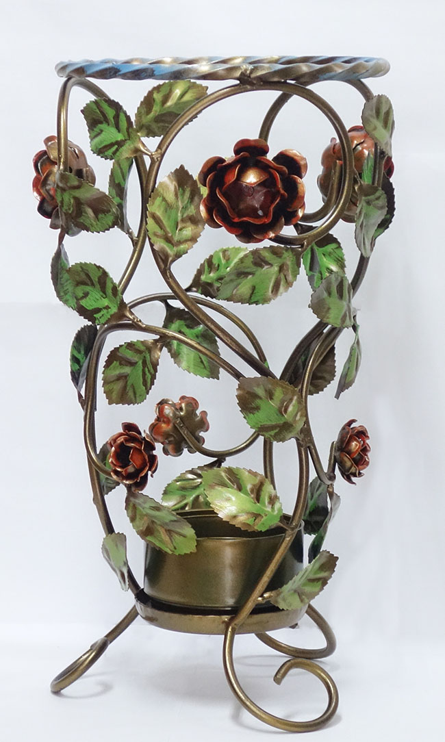 【送料無料】【即納可!!】再入荷しました♪イタリア製 アイアン 傘立て 薔薇 バラ おしゃれ オシャレ スリム