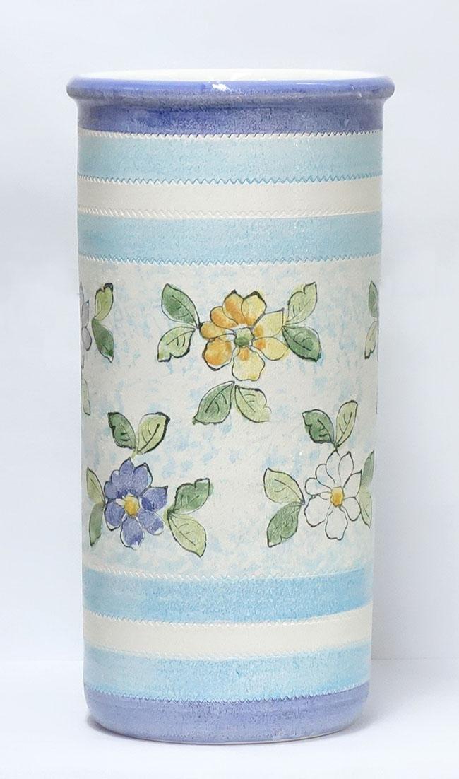 【送料無料】イタリア製 陶器 レインラック花柄 傘立て インテリア 小物 雑貨 玄関 収納レインラック ヨーロッパ アンブレラ 傘