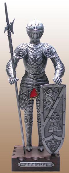 【送料無料】【即納可!!】再入荷しました♪スペイン製 アンティーク調 中世の騎士 甲冑 亜鉛合金製42センチ