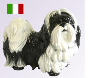 イタリア製陶器 ペキニーズ置物