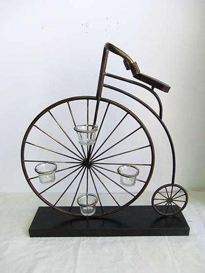 【即納可!!】再入荷しました♪アイアン キャンドルホルダー キャンドルスタンド 自転車 4灯