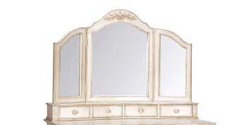 【クーポン利用で5%OFF】再入荷しました♪【送料無料】カントリーコーナー ロマンス 白家具 アンティーク調 三面鏡 鏡台
