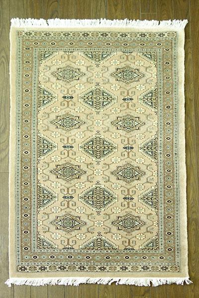 【即納可!!】【送料無料!!】新入荷しました♪最高級 パキスタン手織り 玄関マット ベージュサイズ:約79x128cm