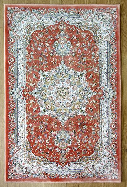 【送料無料!!】ベルギー製 高級 ウィルトン織り 敷物 絨毯ユニーク ラスト シルクタッチ バンブーシルクサイズ:約200×250cm