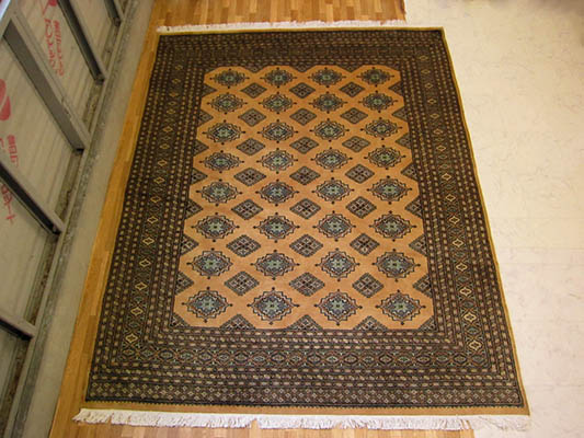 【送料無料!!】【即納可!!】パキスタン手織り絨毯 ベージュサイズ:202×252cm
