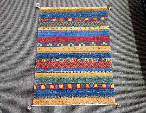 【即納可!!】【送料無料!!】新入荷しました♪最高級 カシュクリ シラーズ産 ギャッベペルシャ絨毯 ウール 手織り ギャベ イランサイズ:157X101cm