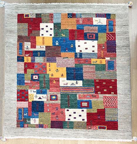 【即納可!!】【送料無料!!】新入荷しました♪ウール 手織り ギャッベ 壁掛けペルシャ 絨毯 ギャベ サイズ:約199X137cm