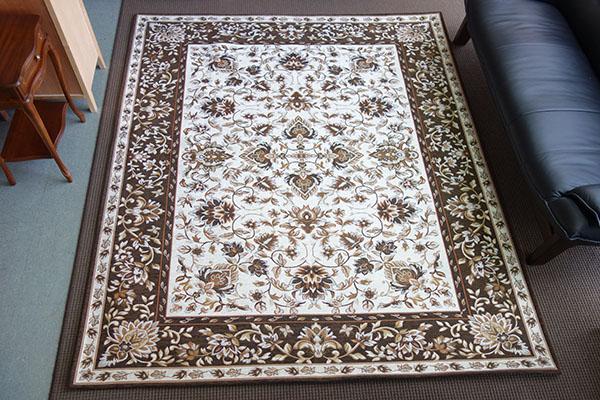 【送料無料!!】【即納可!!】カーペット 絨毯 サンマリノ約200x250cm ブラウン フラワー 花柄