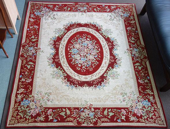 【送料無料!!】カーペット 絨毯 ミラノ約200x250cm レッド フラワー 花柄