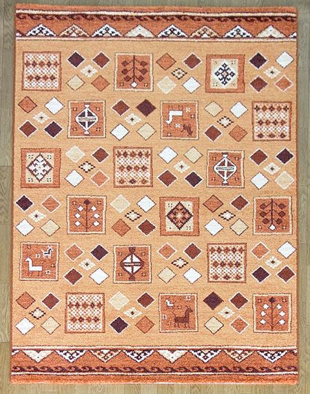 【送料無料!!】【即納可!!】再入荷しました♪ベルギー製 ラグ カーペット 絨毯 ダルシェリ約133X195cm オレンジ