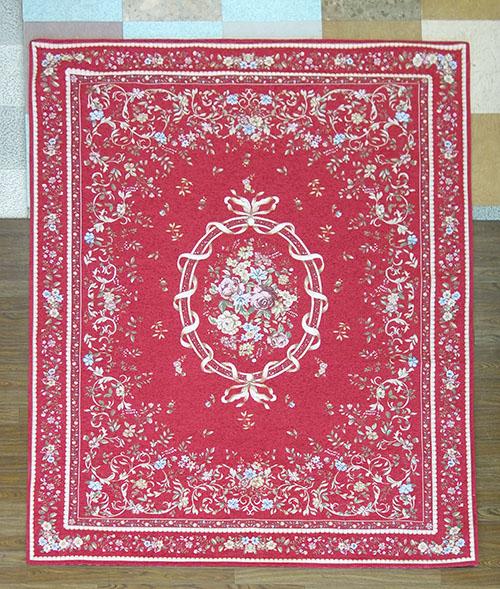 【送料無料!!】【即納可!!】新入荷しました♪ゴブラン シェニール織り カーペット 絨毯 ジェノバ レッド約200x250cm ホットカーペットカバー