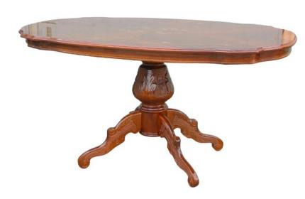 【開梱設置・送料無料】イタリア製 象嵌 ダイニングテーブル145(艶有り) ヨーロピアン
