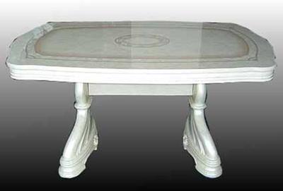 【開梱設置・送料無料】イタリア製  クラシック ダイニングテーブル145 食卓 キッチン ヨーロピアン