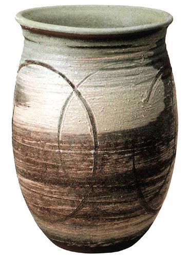 【送料無料】信楽焼 傘立て サイズ:W36×D33×H49(cm) 【北海道・沖縄・離島の送料は別途見積り】※手作り品のため、色・形・大きさ等が少々変わってしまう場合があります。シンプルモダン 和風 アジアンテイスト 伝統 工芸品 焼き物【smtb-MS】