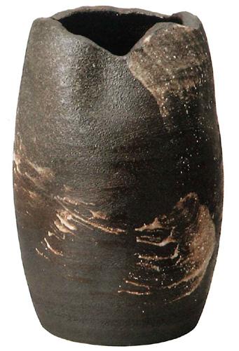 【送料無料】信楽焼 傘立て サイズ:W32×H49(cm) 【北海道・沖縄・離島の送料は別途見積り】※手作り品のため、色・形・大きさ等が少々変わってしまう場合があります。シンプルモダン 和風 アジアンテイスト 伝統 工芸品 焼き物【smtb-MS】
