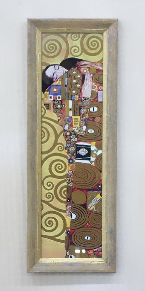 【即納可!!】【送料無料】再入荷しました♪イタリア製 木製  額絵 絵画 クリムト 「抱擁」グスタフ・クリムトガラス 壁掛け ゴールド 金色 インテリア アート オシャレ※北海道・沖縄・離島の場合、別途送料お見積り