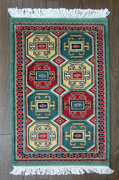 【即納可!!】【送料無料!!】新入荷しました♪パキスタン 手織り 玄関マット 緞通サイズ:約60x96cm