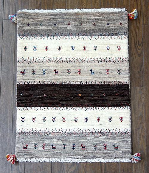 【即納可!!】【送料無料!!】新入荷しました♪リーズ イラン ウール 手織り ギャッベ 玄関マット 壁掛けペルシャ 絨毯 ギャベ サイズ:約60X90cm