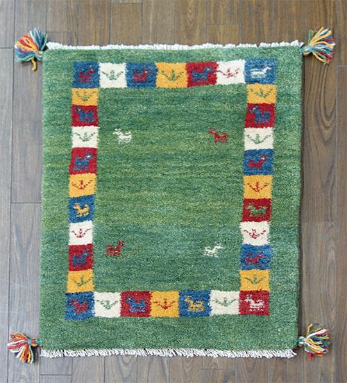 【即納可!!】【送料無料!!】新入荷しました♪ペルシャギャッベ イラン ウール ギャッベ 玄関マット ラグマットペルシャン 絨毯 ギャベサイズ:約60X90cm