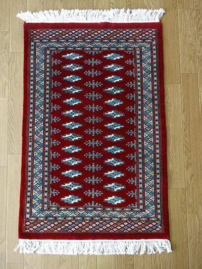 【即納可!!】【送料無料!!】新入荷しました♪最高級 パキスタン手織り 玄関マット レッドサイズ:約95x62cm