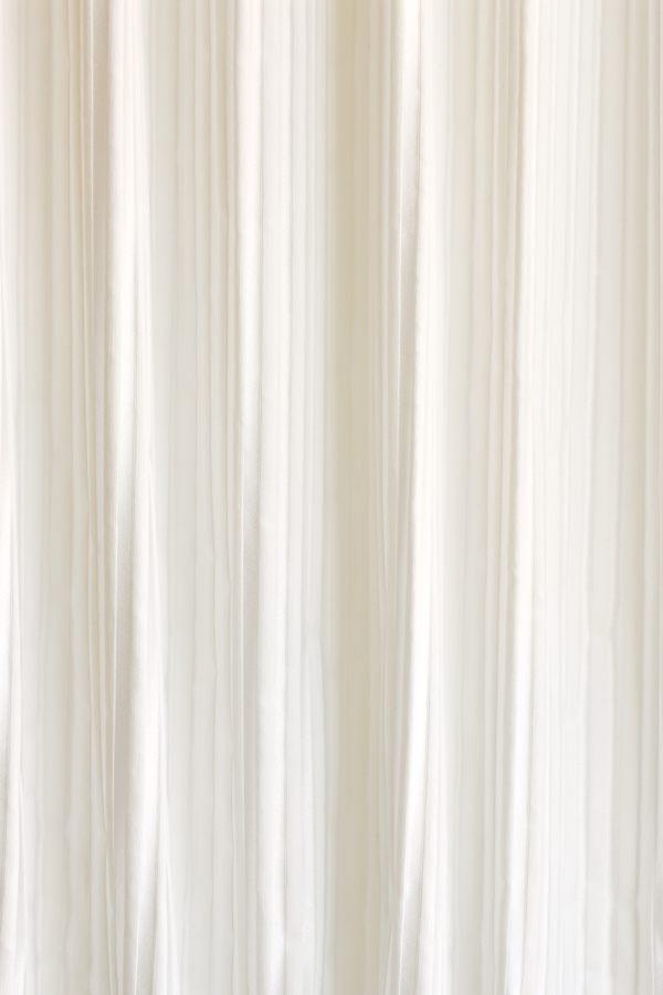 カーテン オーダーメイドカーテン 送料無料 高級 ドイツ製 「ホワイト ストライプ」 1.5倍ヒダ 巾(~100cm)×丈(~150cm)新築 マンション かけ替え 掛替  オーダーカーテン