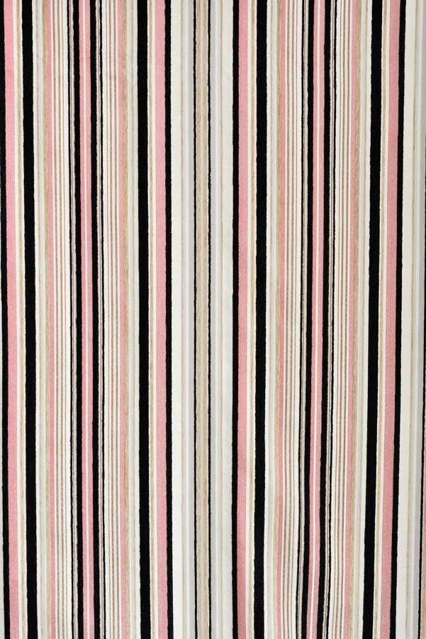 カーテン オーダーメイドカーテン 送料無料 高級 スペイン製 シェニール織ストライプ 「クラーク」 1.5倍ヒダ 巾(~100cm)×丈(~150cm)新築 マンション かけ替え 掛替  オーダーカーテン