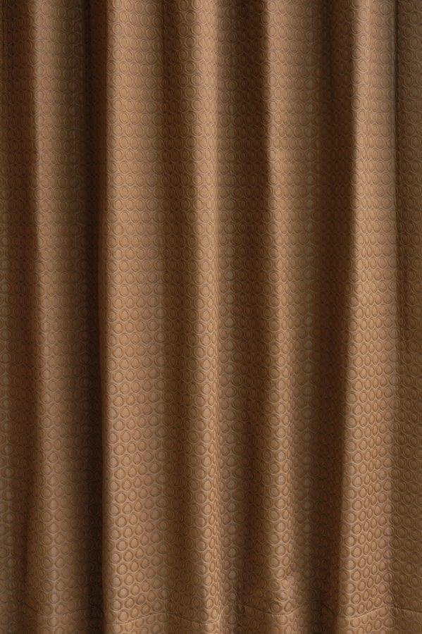 カーテン オーダーメイドカーテン 送料無料 高級 インド製 遮光 「トリロジー ブラウン」 1.5倍ヒダ 巾(~100cm)×丈(~150cm)新築 マンション かけ替え 掛替  オーダーカーテン