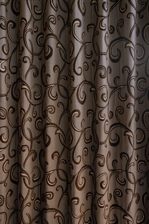 カーテン オーダーカーテン 送料無料 高級 スペイン製 シェニール織 遮光 「イヴァーナ BR」 1.5倍ヒダ 巾(301~400cm)×丈(~210cm)新築 マンション かけ替え 掛替 1枚(片開き)/2枚セット(両開き)選択可能