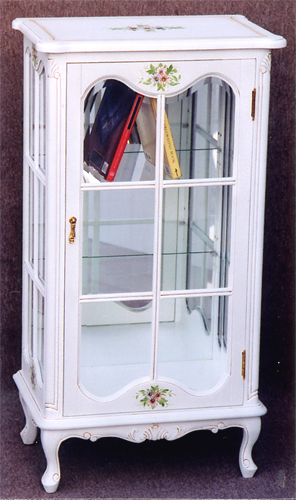 Crack Paint Decorative Shelves (with A Mirror) Antique Cabinet Interior  White House Furniture Hand Painted Hand Painting Floral White Clawfoot  European ...