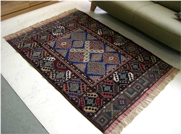 Premium hand-woven Afghan carpet size: 116 x 158cm手 weaving carpets, carpet Afghan Afghanistan natural dye wool luxury imports Hokkaido, Okinawa and remote ...