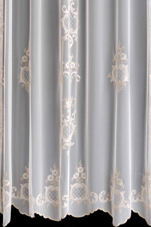 カーテン オーダーメイドカーテン 送料無料 高級 トルコ製 クリスタル・チュール 「クロコ」   2倍ヒダ 巾(~100cm)×丈(~150cm)新築 マンション かけ替え 掛替  オーダーカーテン