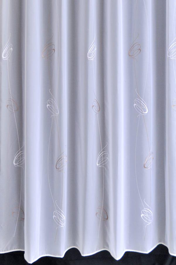 カーテン オーダーカーテン 送料無料 高級 ドイツ製 裾巻ロック 刺繍 「ボン」 1.5倍ヒダ 巾(~100cm)×丈(~150cm)新築 マンション かけ替え 掛替 1枚(片開き)/2枚セット(両開き)選択可能