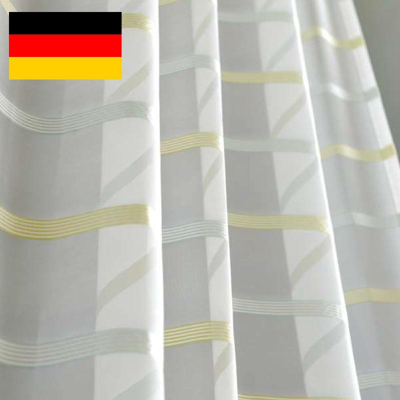 カーテン オーダーカーテン 送料無料 高級 ドイツ製 ボーダー 「 ティラ 」  巾 101~200cm×丈 211~250cm 1.5倍ヒダ新築 マンション かけ替え 掛替 1枚(片開き)/2枚セット(両開き)選択可能