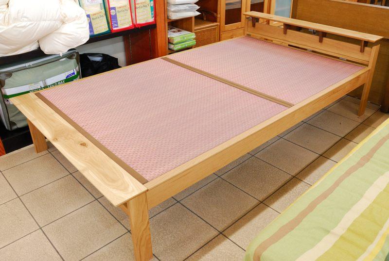 セミダブル畳ベッド ユーミング カイバラ工芸 国産 オーク無垢材【即納可】【送料無料】
