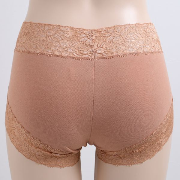 bf9c49af34c Shirohato: Bally Lane Mixed Cotton Deep Rise Front Lace Panties ...