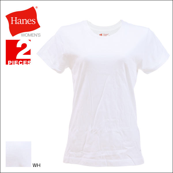 (Hanes)Hanes Japan Fit for HER圆领T恤2张包女士