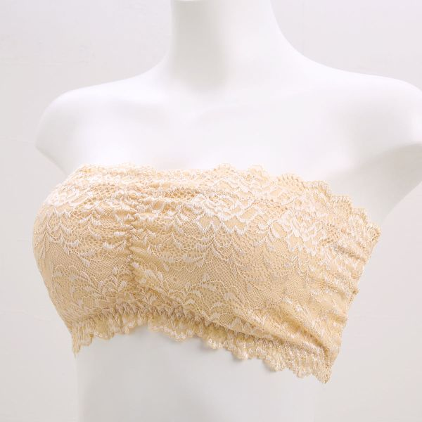 2376058bd2619 Wireless Lace Bandeau Bra (With pads