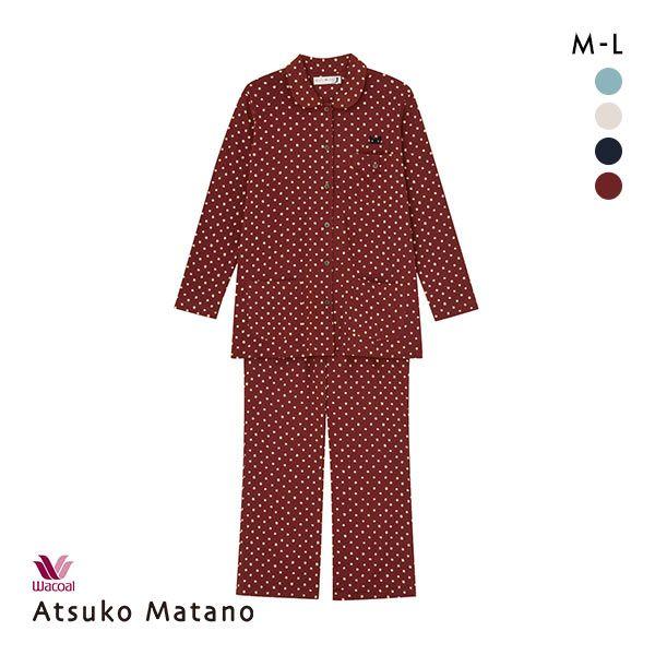 15%OFF【送料無料】 (ワコール)Wacoal (マタノアツコ)ATSUKO MATANO 長袖パジャマ上下セット ネコドット レディース