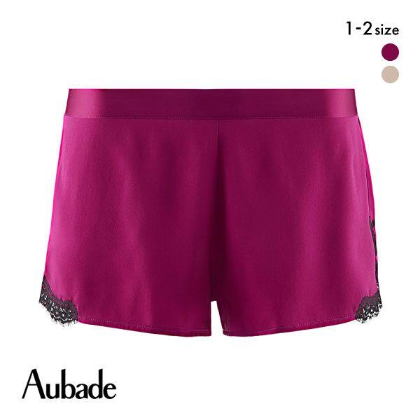 (オーバドゥ)Aubade Soie d'Amour ソイェ ダムール シリーズ シルク サテン ショートパンツ タップパンツ ランジェリー レディース