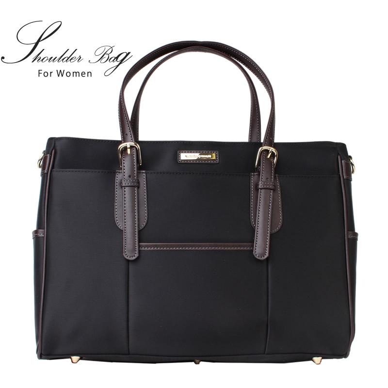 【送料無料】レディースバッグ ビジネス レディース バッグ バレンチノヴィスカーニ ブラック 黒 ショルダー トートバック ファスナー付き BAG バック 人気 通勤 B4 /oth-ux-bag-1510【53410-01-BLACK】